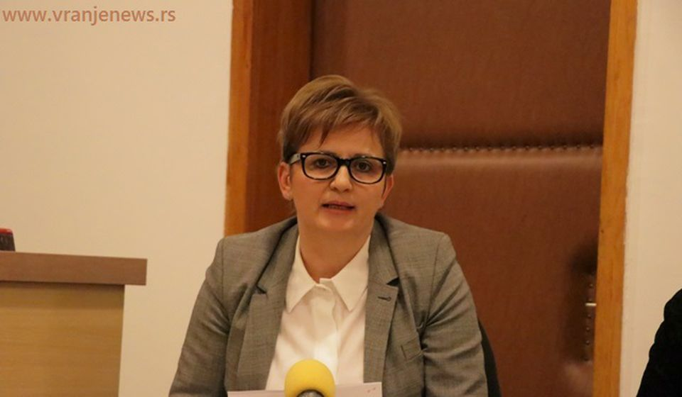 Danijela Trajković na današnjoj konfrenciji za medije. Foto Vranje News