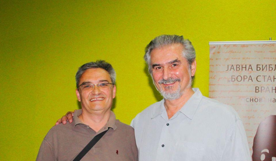 Dimitrijević sa Zoranom Hamovićem. Foto VranjeNews