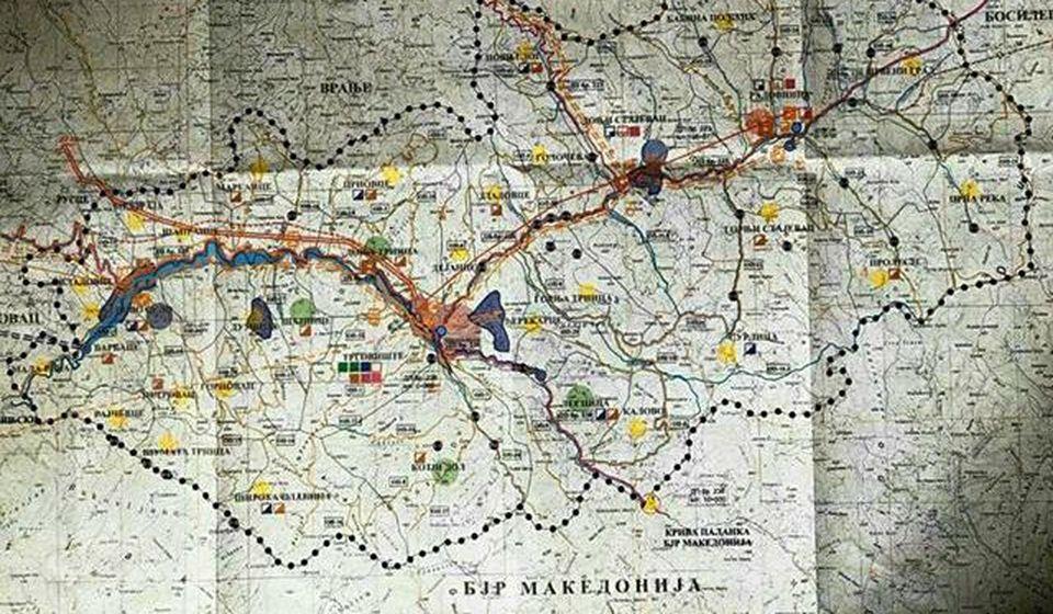 Crne tačke predstavljaju minihidroelektrane (MHE) na području Pčinje. Foto lična arhiva