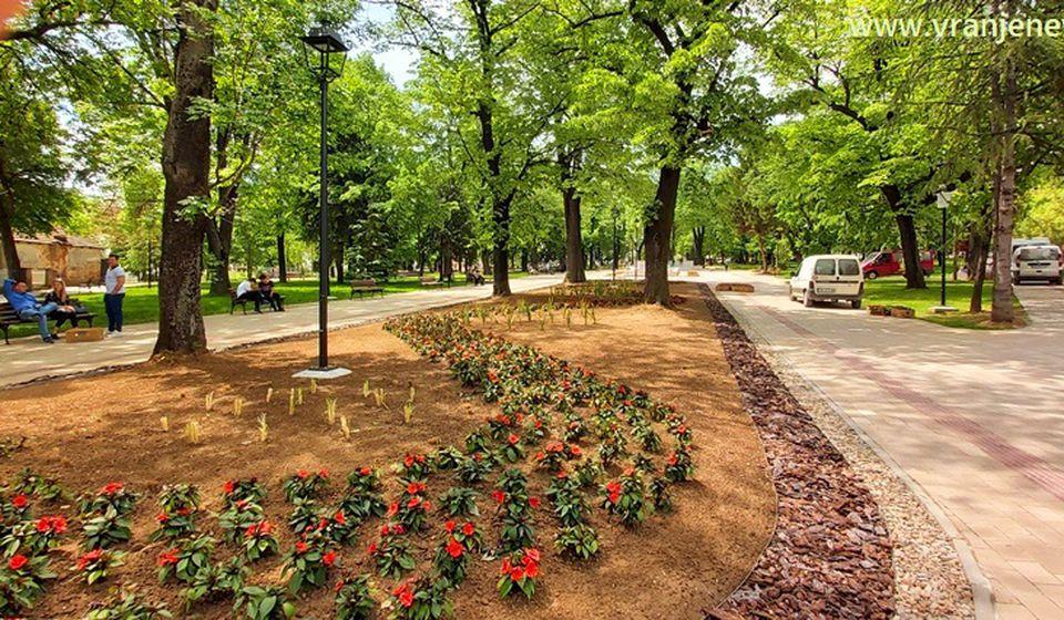 Ovako sada izgleda Gradski park u Vranju. Foto Vranje News