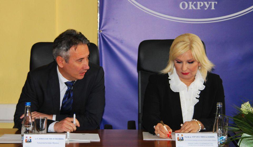 Gradonačelnik Vranja Slobodan Milenković i ministarka Mihajlović. Foto VranjeNews