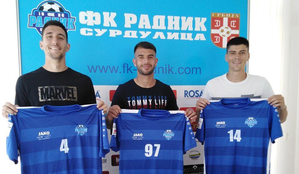 Radmanovac, Spasić i Oreščanin. Foto D. Mirčev