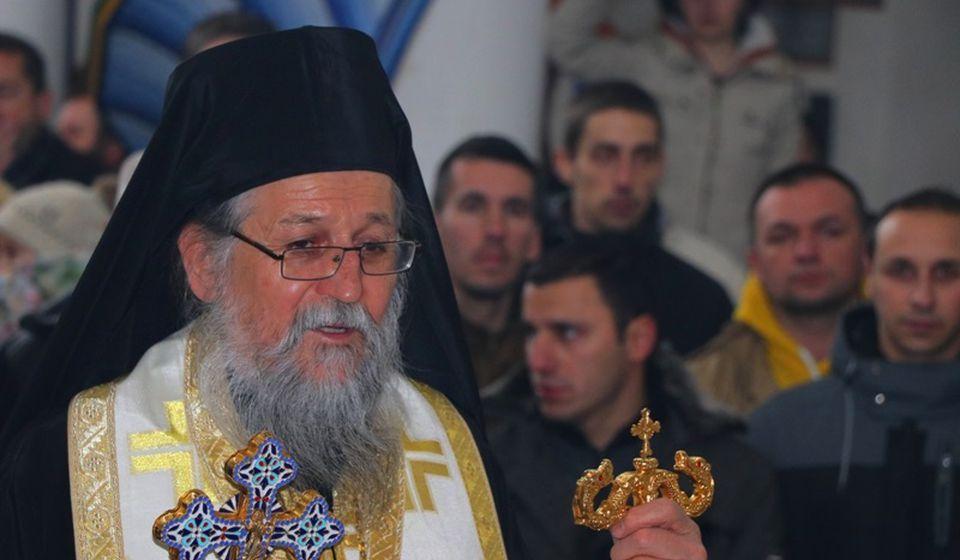Pahomije u Hramu Svete Trojice u Vranju u januaru 2020, na molebanu za spas vernog naroda u Crnoj Gori. Foto Vranje News