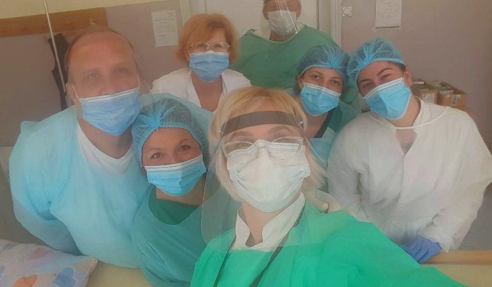 Ekipa surduličke Radiologije. Foto privatna arhiva