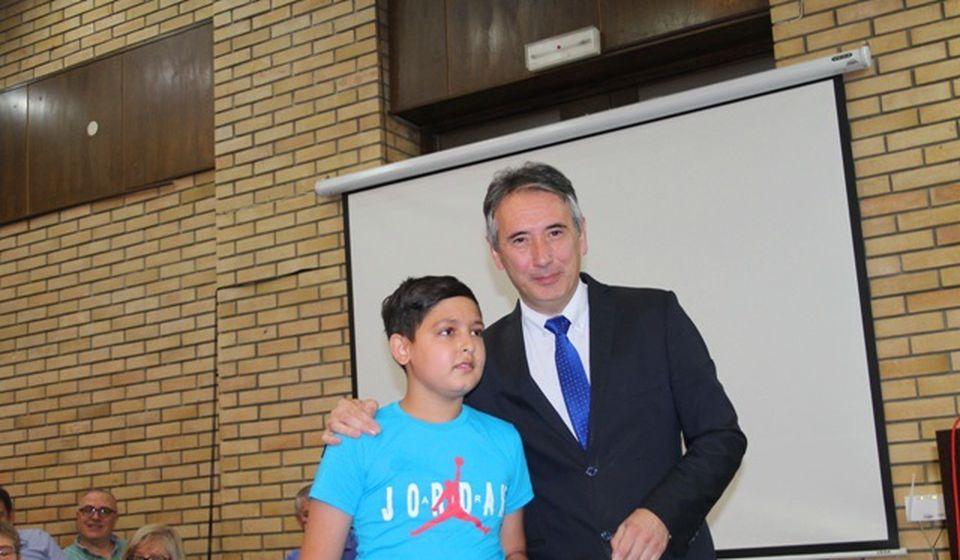 Kristijan Mamutović, sa odseka za trubu Muzičke škole, takođe bio prvi na republičkom takmičenju. Foto VranjeNews