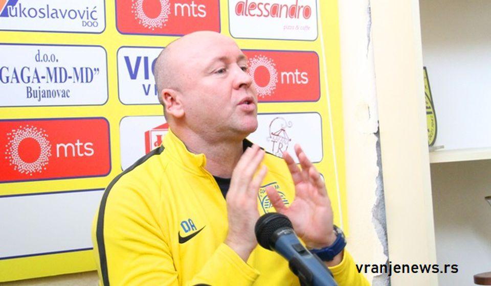 Ja sam trener naprednjak: Saša Ćurčić. Foto VranjeNews