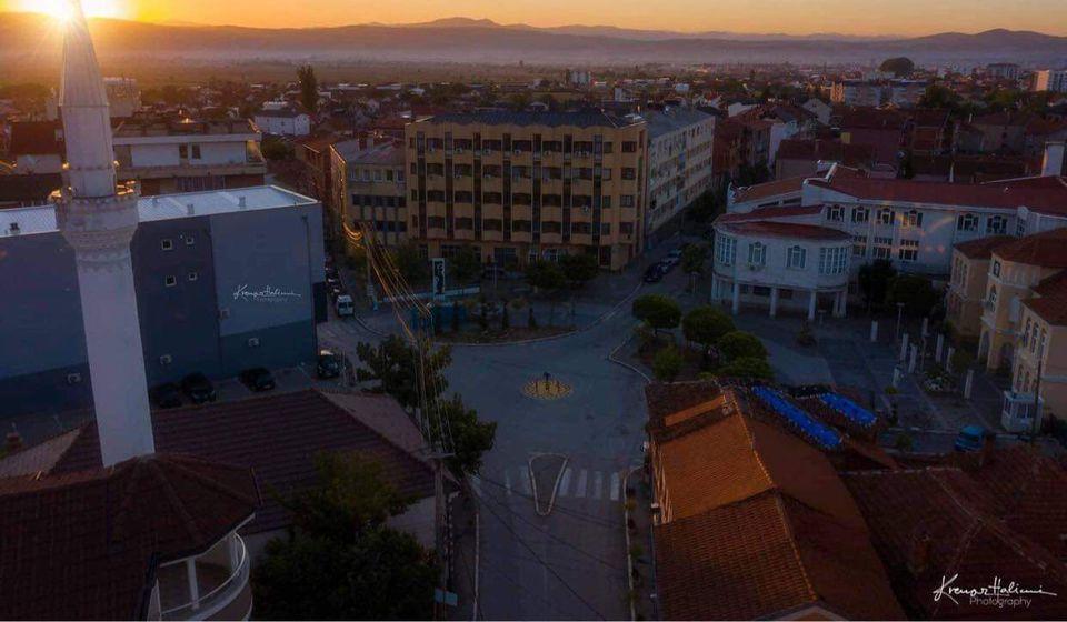 Opštinski sud u Preševu (u pozadini). Foto Krenar Halimi