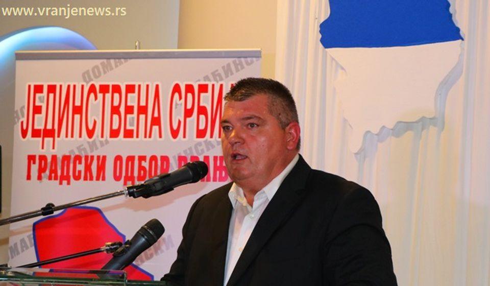 Vranje Vranjancima? Ko to beše: Dejan Manić, lider vranjskog JS-a. Foto Vranje News
