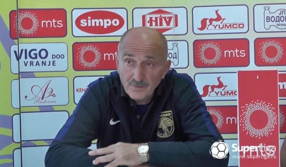 Pomoćni trener Dinama Radmilo Jovanović. Foto screenshot Super Iiga