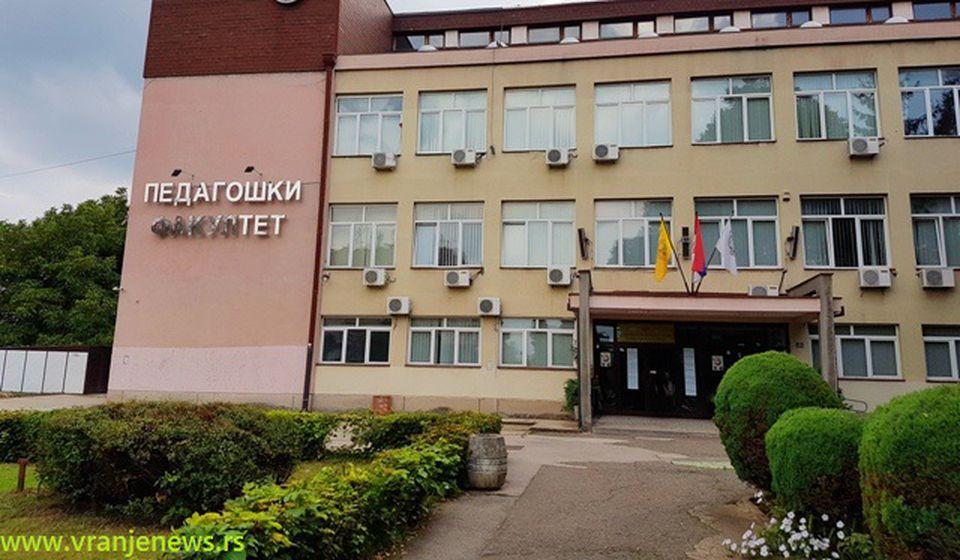 Pedagoški fakultet u Vranju. Foto Vranje News