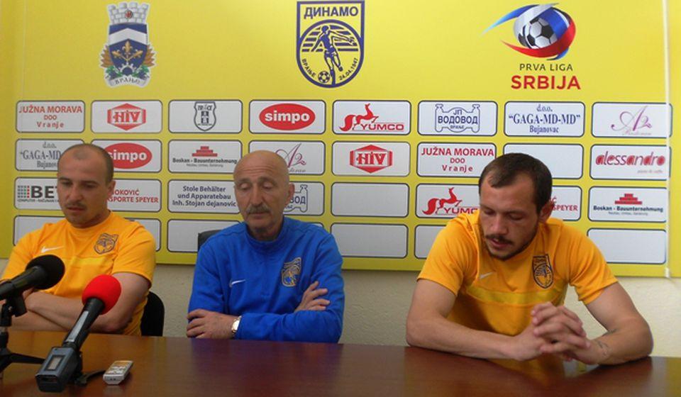 Bez Okamijana i Gašića: Jovanović, Stojković i Stevanović. Foto VranjeNews