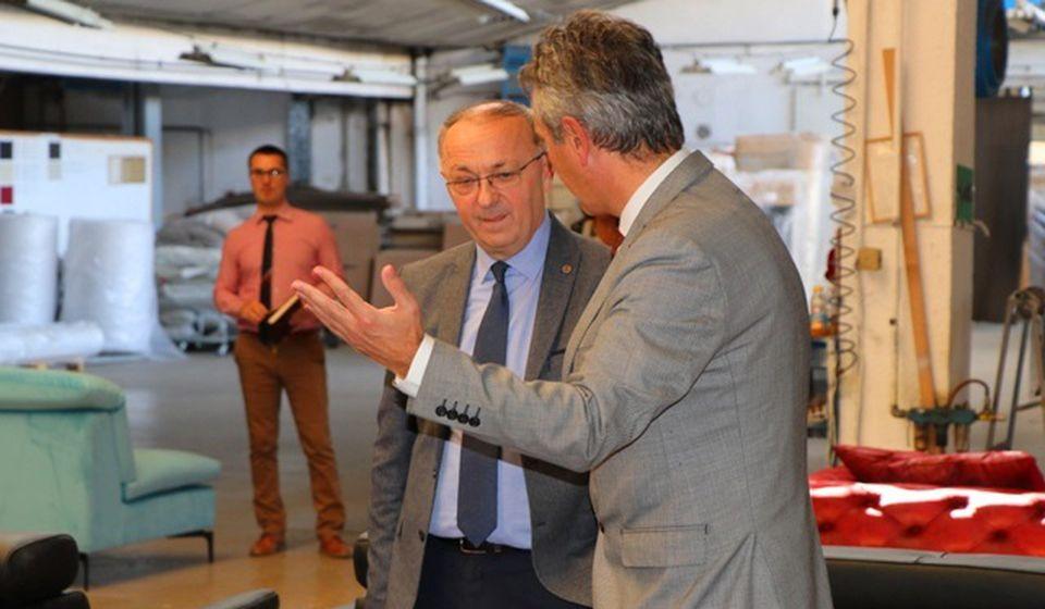 Disić sa gradonačelnikom Vranja Slobodanom MIlenkovićem. Foto VranjeNews