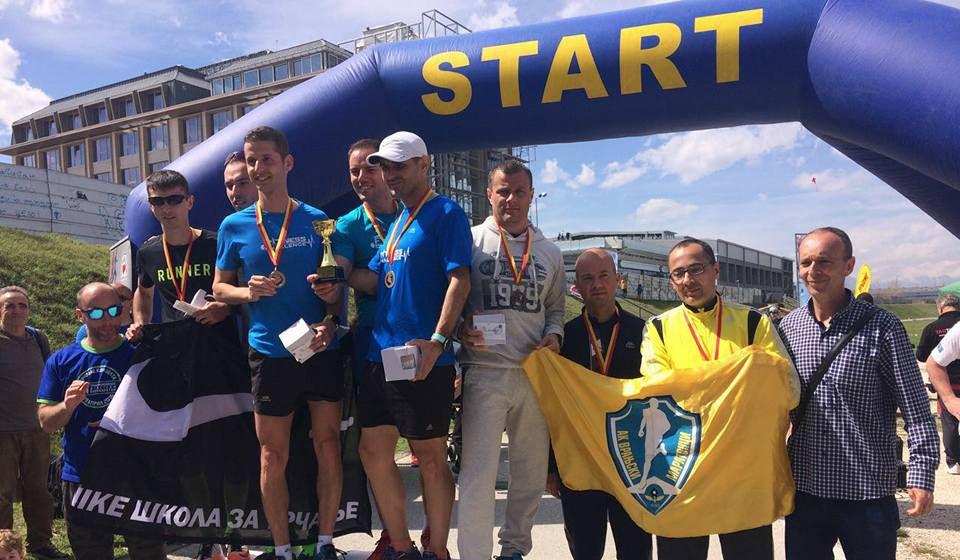 Veliki uspeh u Skoplju: vranjski maratonci. Foto Fejsbuk profil atletskog kluba