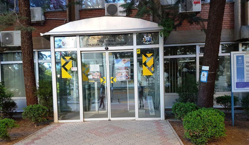 Uslužni centar Gradske uprave imaće dva POS terminala. Foto VranjeNews
