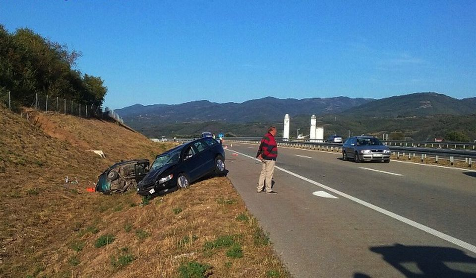 Lice mesta posle saobraćajne nesreće. Foto VranjeNews