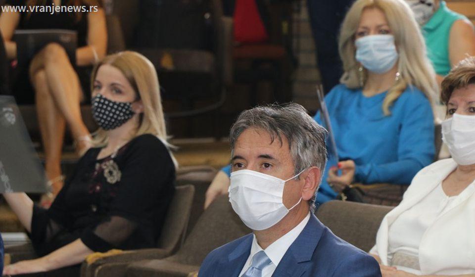 Slobodan Milenković na današnjoj konstittutivnoj sednici. Foto Vranje News