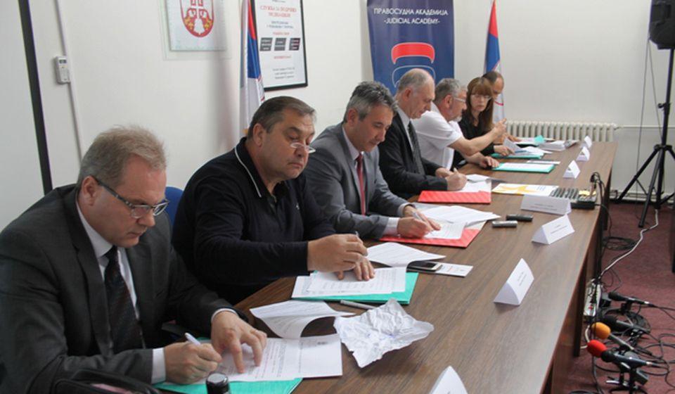 Parafiranje protokola. Foto VranjeNews