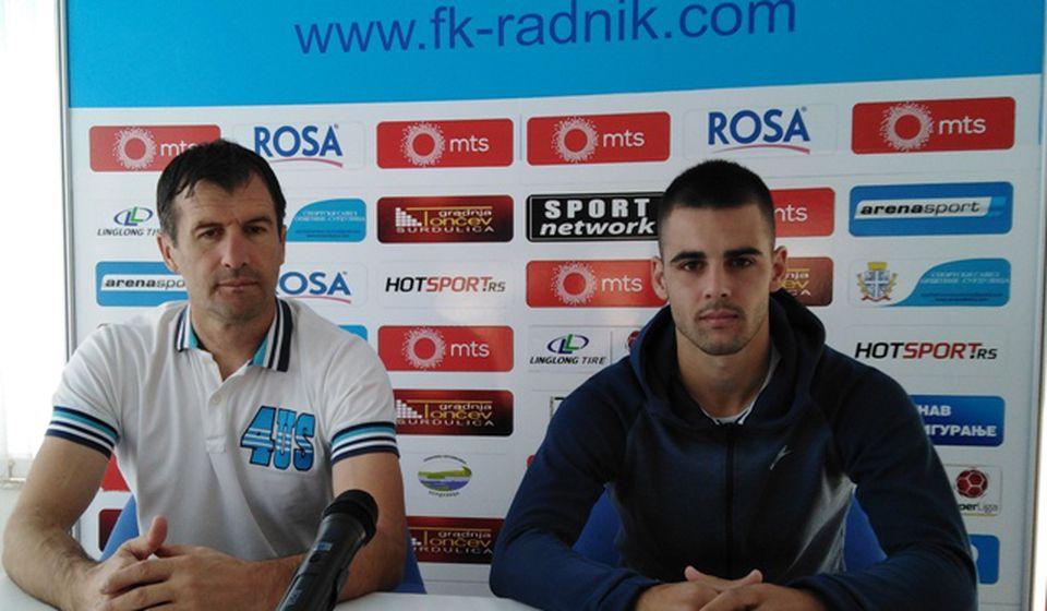 Nenad Vanić i Uroš Stojanović na konferenciji za medije. Foto D. Mirčev