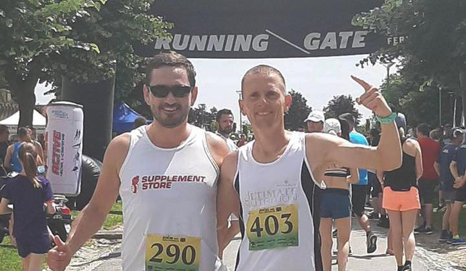 Kristijan Stošić (desno) i Saša Ćuković. Foto AK Vranjski maratonci
