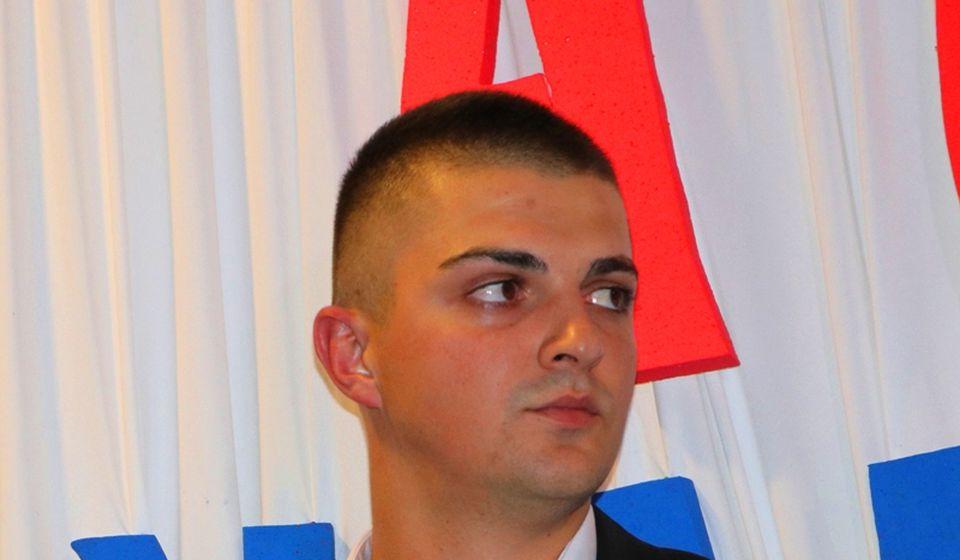 Petar Petrović, lider Podmlatka Jedinstvene Srbije