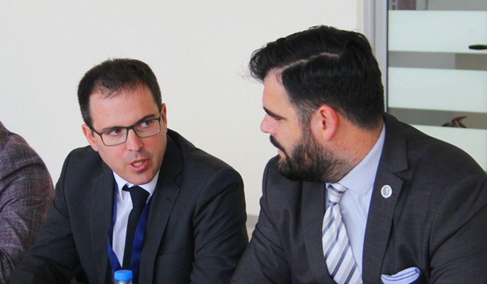 Đakomo Bosisio (levo) i Ragmi Mustafa. Foto VranjeNews