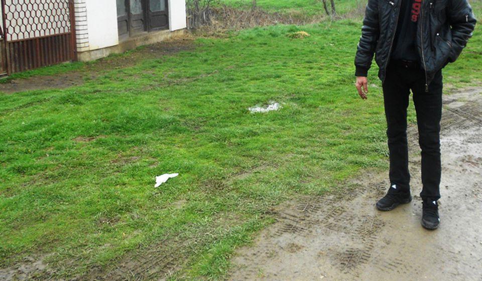 Mesto zločina u Donjem Trebešinju. Foto VranjeNews
