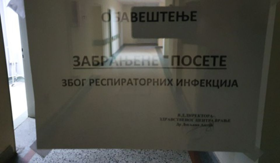 Uvedena mera zabrane poseta u ZC Vranje. Foto ZC