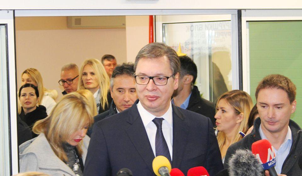 Prioritet je da u Vranju zaposlimo još više radnika: Aleksandar Vučić. Foto VranjeNews