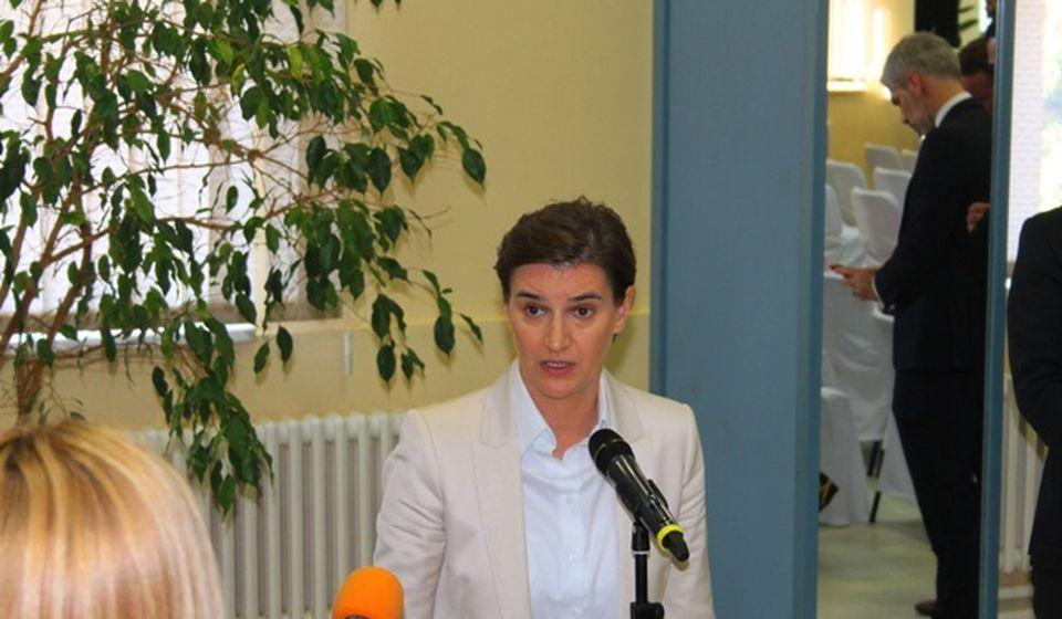 Ana Brnabić prilikom jedne od ranijih poseta jugu Srbije. Foto VranjeNews