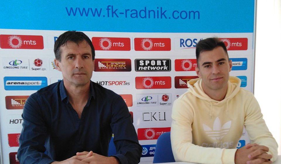 Nenad Vanić (levo) i Uroš Damnjanović. Foto FK Radnik