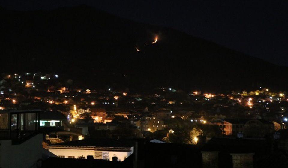 Požar još nije pod kontrolom. Foto Vranje News