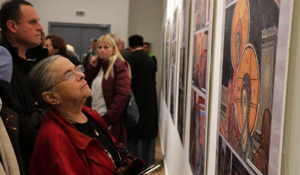 Detalj sa otvaranja iste izložbe u Vranju krajem januara. Foto Vranje News