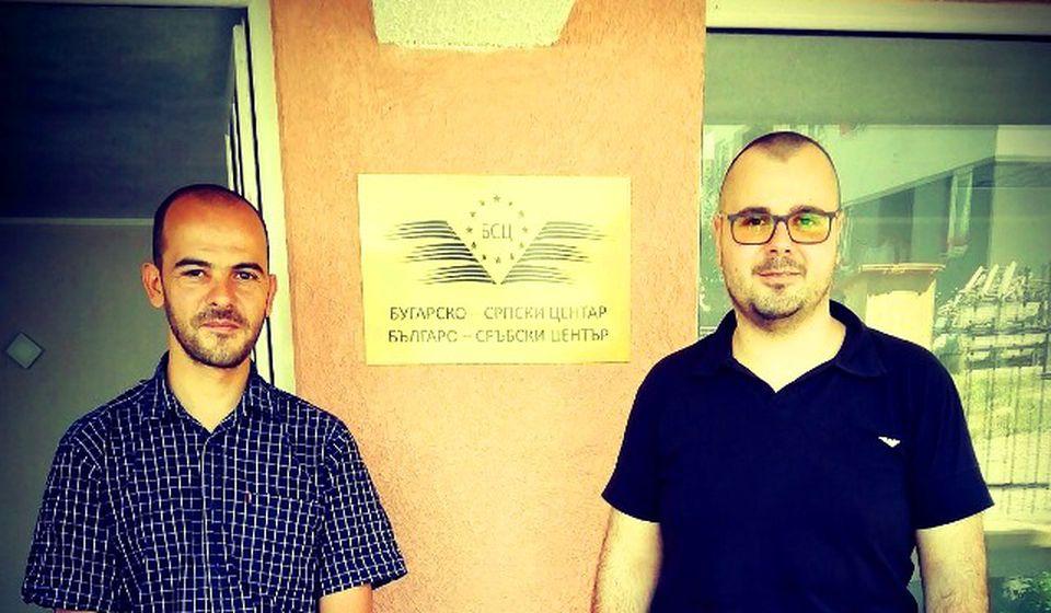 Šumanov (levo) sa predsednikom Bugarsko srpskog centra u Vranju Darkom Anačkovim. Foto BSC