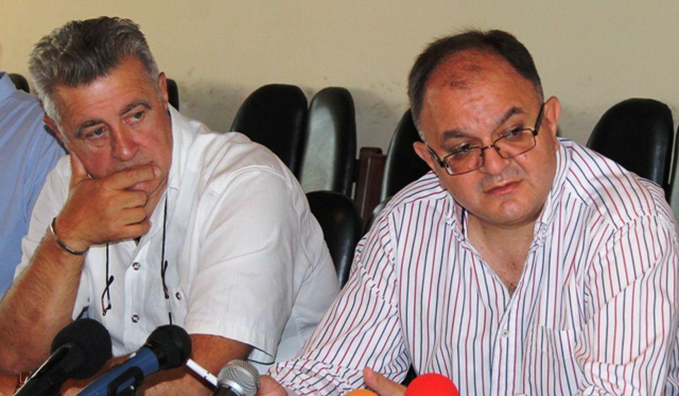 Dva bivša gradonačelnika: Miroljub Stojčić i Zoran Antić. Foto VranjeNews