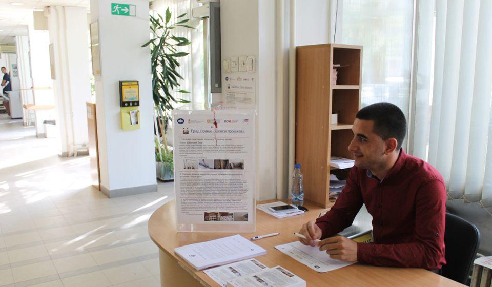 Jedan punkt za glasanje u Uslužnom centru, drugi na šetalištu. Foto Grad Vranje