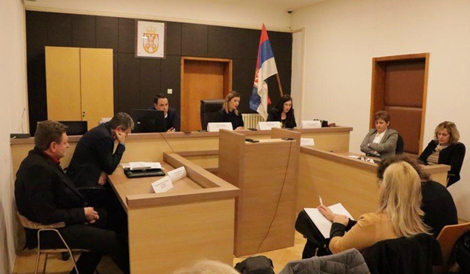 Rukovodioci tužilaptava u Pčinjskom okrugu na godišnjoj konferenciji za medije. Foto VranjeNews