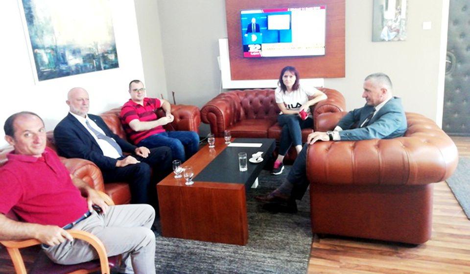 Susret konzula Sugareva sa predsednikom opštine Bujanovac Kamberijem. Foto BSC