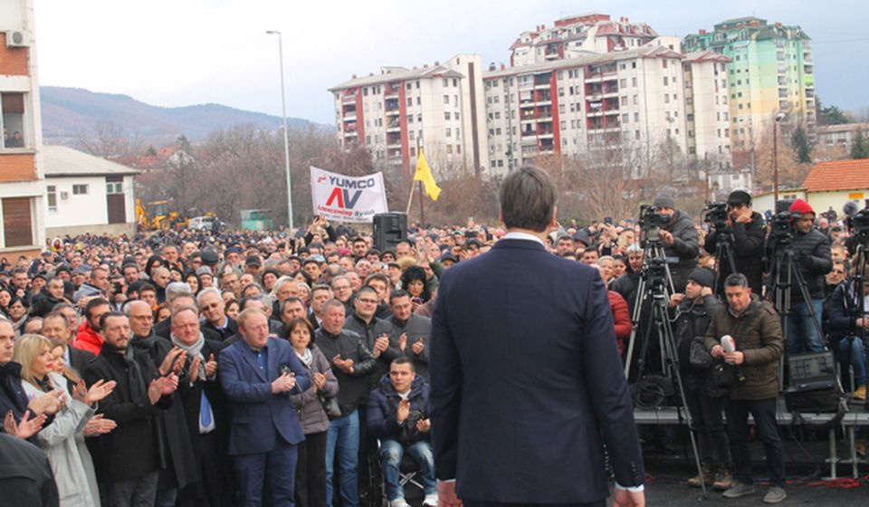 Vučić govori na nedavnom otvaranju Hirurškog bloka u Vranju. Foto VranjeNews