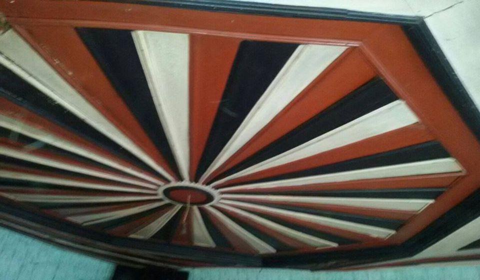 Plafon u jednoj od soba Krampusove kuće. Foto Fejsbuk profil Dragana Jovanovića