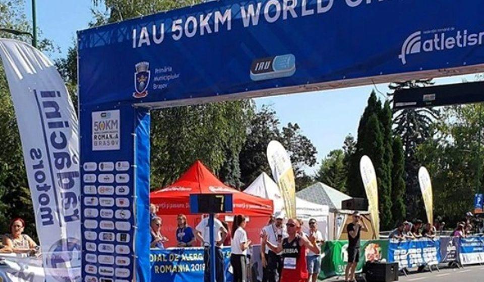 Vranjski maratonac ulazi u cilj u trci na 50 kilometara. Foto Fejsbuk profil Kristijana Stošića