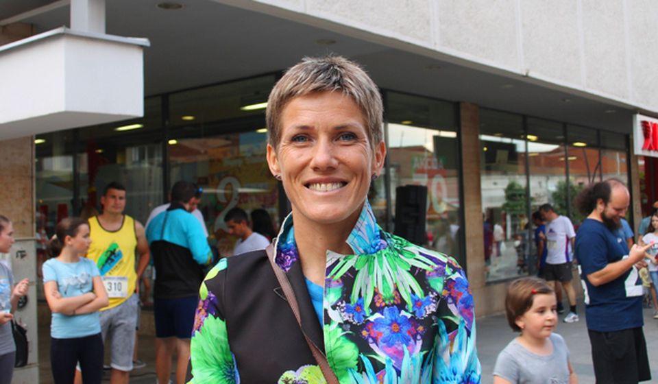 Jevtićeva je ove godine bila promoterka Vranjskog maratona. Foto VranjeNews