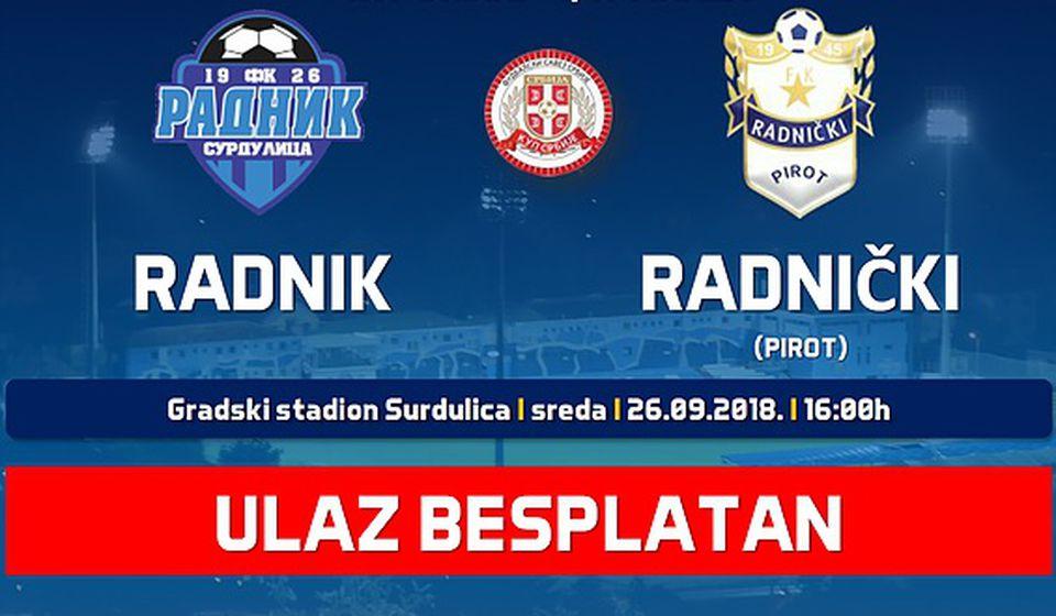 Surduličani otvaraju vrata za sve navijače. Foto FK Radnik