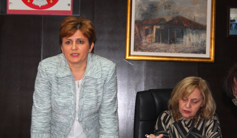 Viši tužilac Danijela Trajković na konferenciji za medije. Foto VranjeNews
