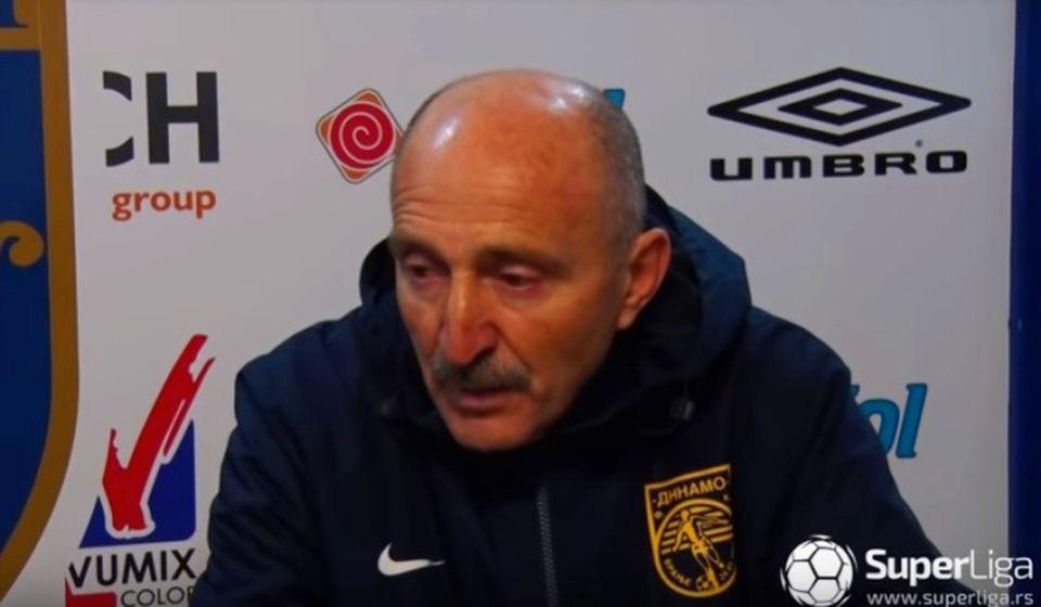 Radmilo Jovanović na konferenciji za medije posle utakmice sa Zemunom. Foto Printscreen Super liga