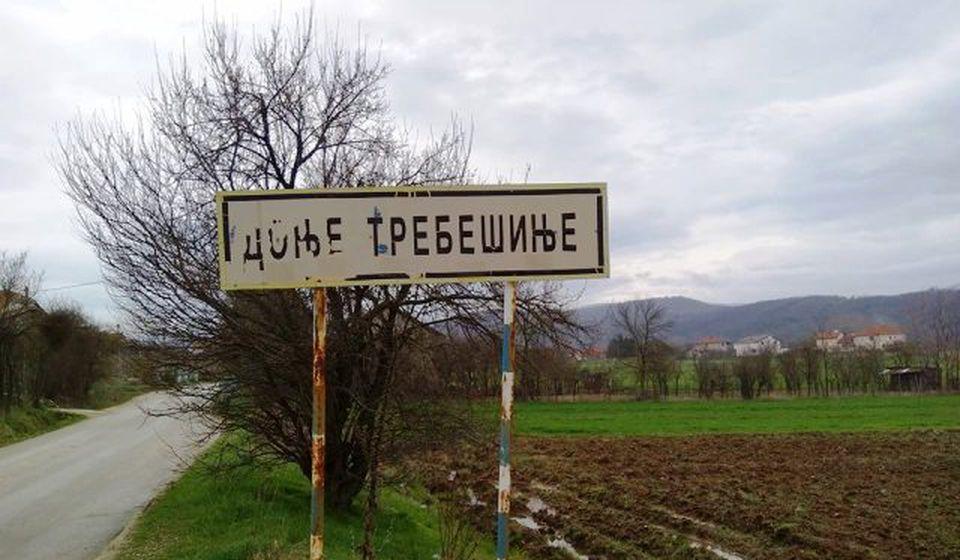 Ulaz u selo Donje Trebešinje. Foto VranjeNews