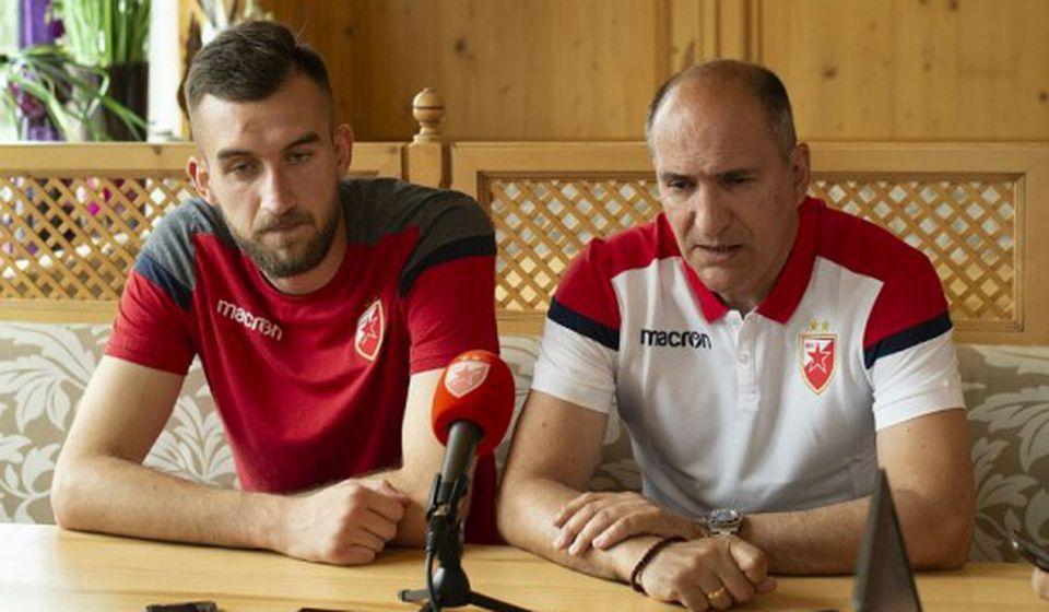 Vasiljević sa Mitrom Mrkelom. Foto FK Crvena zvezda