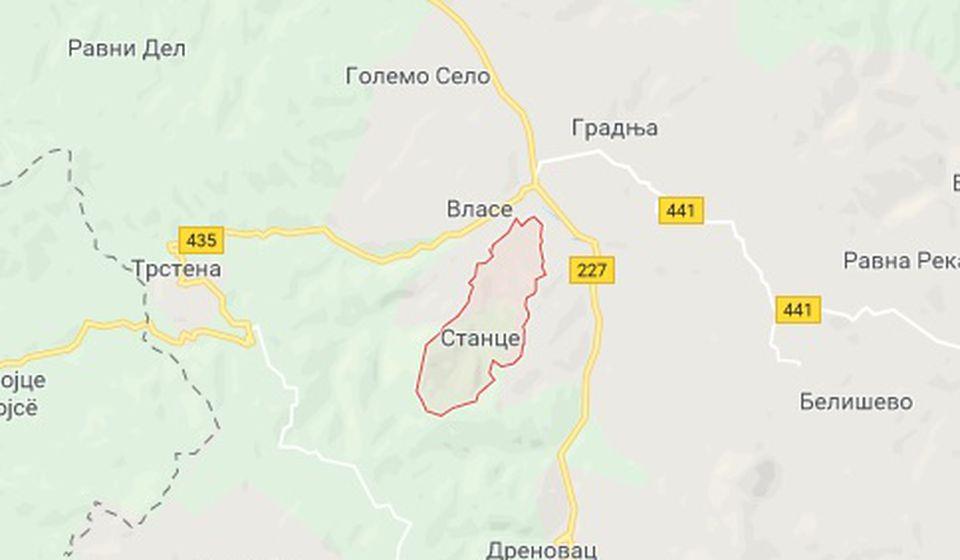 Područja Vlase - Poljanica u nedelju bez struje. Foto Screenshot VranjeNews