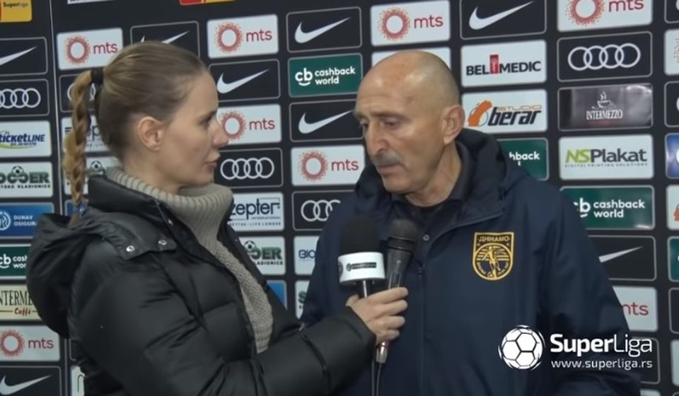 Radmio Jovanović daje izjavu posle meča sa Partizanom, Foto Printscreen (Super liga)