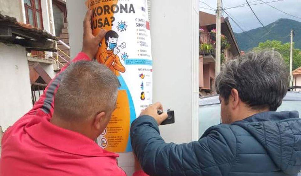 Informisanje Roma o koronavirusu putem plakata. Foto lična arhiva