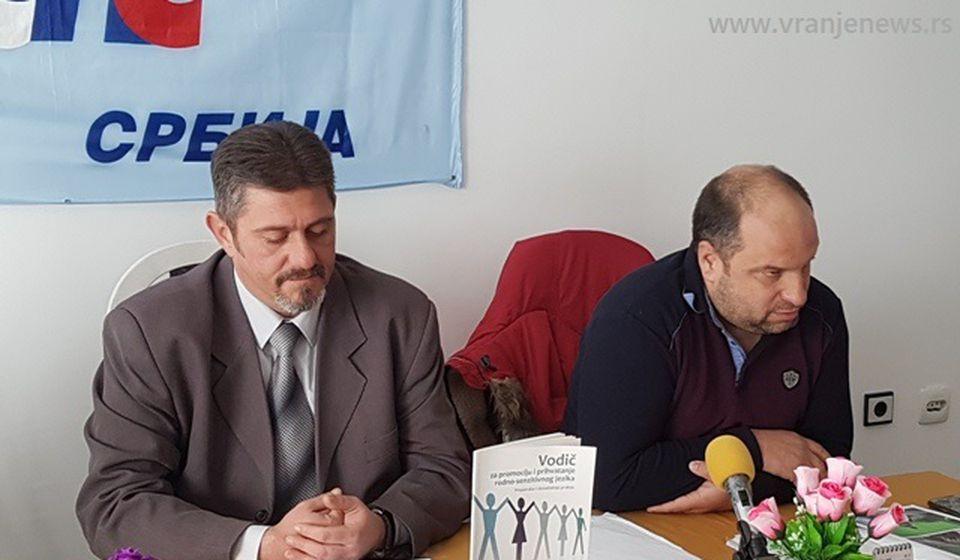 Na udaru: Bogdanović i Petrušević. Foto VranjeNews